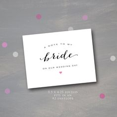 A Note to my Bride on our Wedding Day, Wedding Day Note for the Bride, Groom's Note to his Bride, Wedding Day Note, Instant Download by PumpkinPiDesign on Etsy