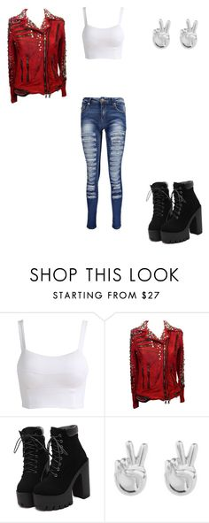 """""""Untitled #5"""" by dezy-gal on Polyvore featuring Balmain, Rock 'N Rose and Boohoo"""