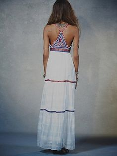 Stunning Soleil Maxi by Free People. The bead work on this piece is truly beautiful!!