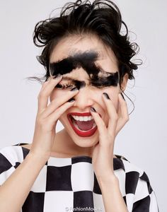 Jung Sun Ju by Mei Yuan Gui for Harper's Bazaar China March 2015 beauty makeup 1