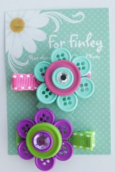 If I ever have a daughter, I would make these into a hair clip. They are really cute!