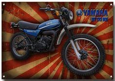 Large A3 Size Yamaha DT 175 MX Motorcycle Metal Sign Enamelled Finish   eBay