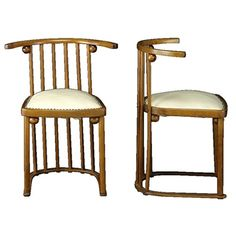 View Pair of Fledermaus chairs, model no. 729 by Josef Hoffmann on artnet. Browse upcoming and past auction lots by Josef Hoffmann. Dining Chairs, Objects, Auction, Model, Image, Furniture, Design, Home Decor, Homemade Home Decor