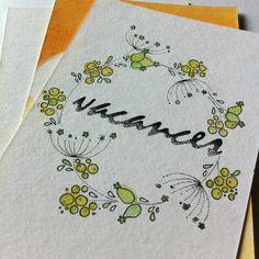 vacances en fleurs ... carte postale de vacances