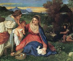 """Madonna with Rabbit"" by Titian; 1530"