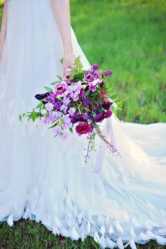 purple bouquet, photo by Arina B Photography