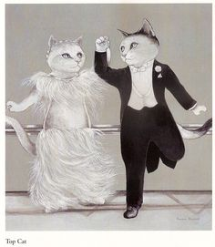 =^. ^= Cat Art =^. ^= ❤ ...By Artist Susan Herbert...Ginger Rogers/Fred Astaire...