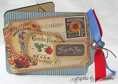 Make this beautiful thank you card with a great tutorial from Gloria! #graphic45 #tutorials
