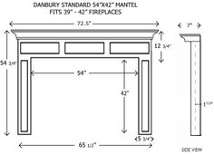 Average Fireplace Dimensions Learn Pinterest Mantels Mantle And Fireplace Mantel