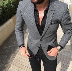 men's casual suit outfit men's fashion стиль д Mens Casual Suits, Mens Fashion Suits, Casual Man, Smart Casual, Blazer Outfits Men, Casual Outfits, Fashionable Outfits, Casual Blazer, Traje Casual