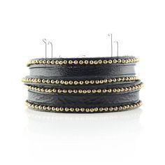 Beaded Wrap Black Bracelet, Black Gold Wrap Bracelet, Leather Cuff,  Suede Bracelet Leather, Presh Bracelet,  Wrap Bracelet,