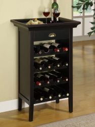 """Wine Cabinet in Black with Merlot Rub Through Powell Wine Cabinet is the perfect piece for a wine enthusiast. Crafted with Black with """"Merlot"""" rub through finish, this cabinet can properly store 16 bottles of wine. A single drawer is the per Decor, Furniture, Wine Rack Cabinet, Wine Cabinets, Modern Wine Rack, Cabinet, Home Decor, Cabinets For Sale, Powell Furniture"""