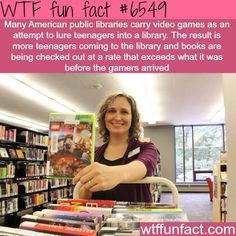 Public libraries add video games to get more teens to read - WTF fun facts