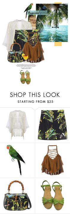 """""""~Hot Tropics~"""" by amethyst0818 ❤ liked on Polyvore featuring Oasis, Proenza Schouler, Balmain, Gucci and Prada"""