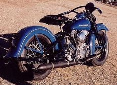 1947 Harley-Davidson Knucklehead Right Side #harleydavidsonknucklehead
