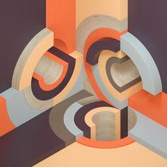 Studies in Abstract & Circular Compositions | Abduzeedo Design Inspiration