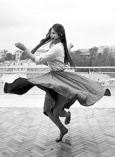 twirl- Claudia Cardinale by Alfred Eisenstaedt