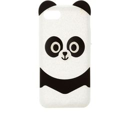 Charlotte Russe Glitter Panda Phone Case ($8.99) ❤ liked on Polyvore featuring accessories, tech accessories, white and charlotte russe