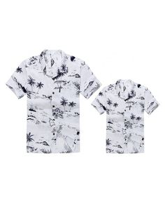 36f4abdc8 Matching Father Son Hawaiian Luau Outfit Men Shirt Boy Shirt White Map -  White Map - CR12FCJ5D1V