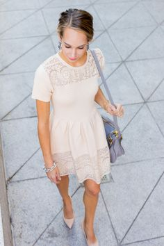 blush pink dress — via @TheFoxandShe