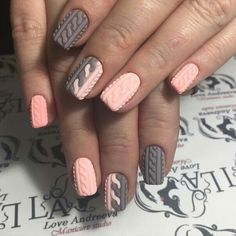 Accurate nails Beautiful nails Birthday short nails Coffee nails Gradient nails 2016 Ideas of gentle nails Nail designs with pattern Pale pink nails 3d Nails, Pink Nails, Gradient Nails, Nail Nail, Matte Nails, Acrylic Nails, Nail Polish, Sweater Nails, Manicure E Pedicure