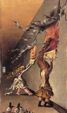 """Jeux D'Enfants"" by Dorothea Tanning."
