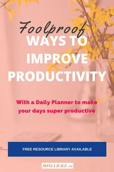 Click through to learn great tips on Productivity, especially when working solo from the home. Goal Setting, Increased Productivity: