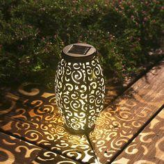 Outdoor Solar Lanterns, Solar Powered Lanterns, Garden Lanterns, Solar Lights, Backyard Lighting, Patio Lighting, Lighting Ideas, Led Decoration, Outdoor Gardens