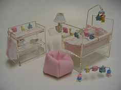 Miniature Acrylic Nursery Set