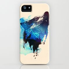 Alone as a wolf iPhone Case