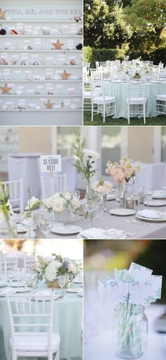 Beautiful seaside wedding theme