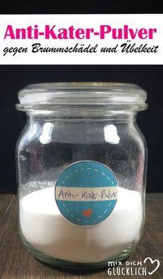Das Pulver wird in Wasser eingerührt und hilft sofort gegen Kopfschmerzen und Übelkeit nach einer durchgefeierten Nacht.