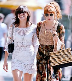 @Who What Wear - Daisy Lowe and Florence Welch                 Musicians and models seem to have an inexplicable connection, even in friendships, as is seemingly the situation with Lowe and Welch. The pair are frequently seen wearing similar or even matching outfits, holding hands, and reliably bringing their unique dose of bohemian quirkiness wherever they go.