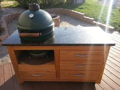 My Big Green Egg table finally complete.