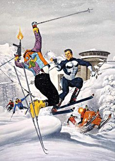 In The Spy Who Loved Me, James Bond skied to get away from the bad guys. Frank Castle doesn't run away from the bad guys.