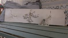 Wood wal decor painted antique white slightly by MyDistressedNest