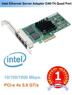 Intel Ethernet Quad Port Server Adapter I340 T4 E1G44HT การ์ดแลน Server รุ่นใหม่ ตระกูล i รหัส I340 4 Port Server Card ประสิทธิภาพสูง E1G44HT #Intel #LANCard #Server