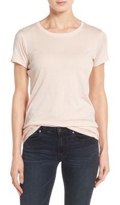 On SALE at 40% OFF! halogen short sleeve crewneck tee by HalogenR. A collect-every-color staple for spring, this crewneck tee feels wonderful in a jersey knit of soft cotton and modal.