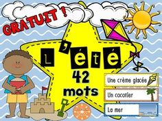"Don't forget to leave feedback if you find this product useful :)Here are 46 words to introduce and practice Summer vocabulary.Ideal for you word wall definitions charades spelling games etc.For more Summer related products:Summer - Game ""I have. French Teaching Resources, Teaching French, Classroom Resources, Classroom Ideas, Kindergarten Activities, Summer Activities, Free French Lessons, Summer Words, Spelling Games"