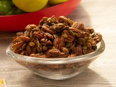 Get Spiced Pepitas and Pecans Recipe from Food Network Cooking Network, Food Network Recipes, The Kitchen Food Network, Katie Lee, Pecan Recipes, Appetizer Recipes, Snack Recipes, Cooking Recipes, Yummy Appetizers