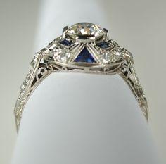 .68 Carat Diamond Art Deco Bow Ring from greenhilljewelers on Ruby Lane