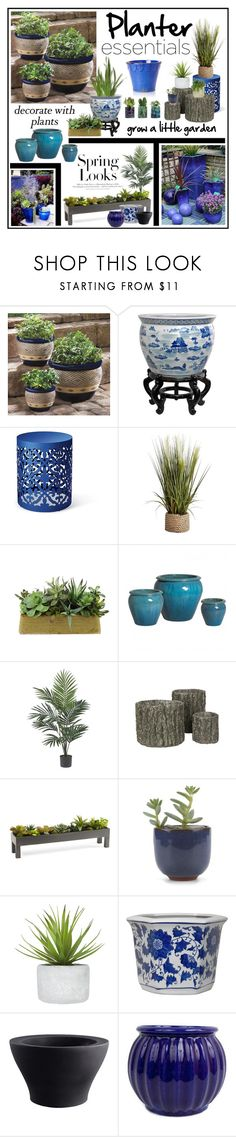 """""""Planters!!!!"""" by cldesign ❤ liked on Polyvore featuring interior, interiors, interior design, home, home decor, interior decorating, Pier 1 Imports, H&M, Nearly Natural and Jayson Home"""