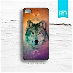 iPhone 4 and iPhone 4S case Wolf with Geometric by HelloNutcase, $19.00