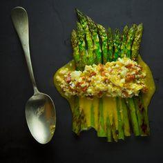 Asparagus with Egg and Chorizo Spring Gluten-Free Dirty Habit San Francisco David Bazirgan