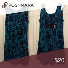 🌴NEW LISTING🌴 En Focus Studio Dress Teal and black. Balloon bottom. Shell 95% polyester 5% spandex. Lining 100% polyester. Size 16. (10/16) En Focus Studio Dresses