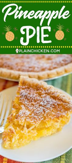 Pineapple Pie – Pineapple Coconut Chess Pie – so easy and it tastes fantastic! Great for parties and potlucks! Pineapple Pie, Pineapple Recipes, Pineapple Coconut Pie Recipe, Recipes With Crushed Pineapple, Pineapple Desserts, Best Nutrition Food, Health And Nutrition, Nutrition Guide, Nutrition Articles