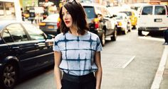 As you pare down on those layers, assembling an interesting outfit is probably becoming 80% harder. Well, Tara St James, of Brooklyn line Study, took the ultimate summer staple—the soft, cotton T-shirt—and gave it some major chic with a shibori-dyed grid pattern. The result goes so well with silk shorts, maxi skirts, and even tuxedo pants that a show-down with your current fave tee is bound to happen. 50 of a kind.