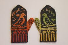 Ravelry: Lovebird Mittens pattern by Celeste Young mag Mittens Pattern, Vintage Valentines, Mitten Gloves, Crotchet, Love Birds, Ravelry, Knitting, Cards, Fingers
