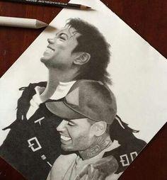 Chris Brown and his idol M.J