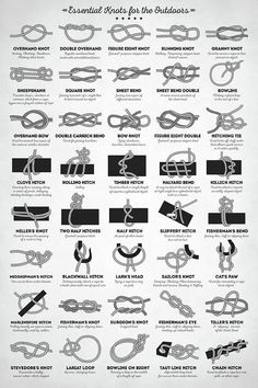 Wissenswertes Essential Knots for the Outdoors by Zapista OU ideas Camping knots Essential Knots Outdoors Wissenswertes Zapista